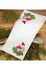 Räknad jullöpare    Tomte och svamp 32x68cm