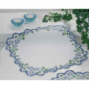 Langett duk        Blå blommor           38x38cm