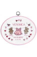 Födelsetavla    Veronica                       25x20cm