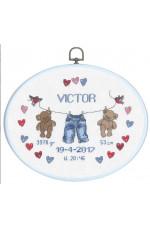 Födelsetavla       Victor                      25x20cm