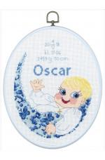 Födelsetavla Oscar 20 x 25 cm