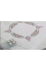 Duk  Blommor i rosa       80x80cm
