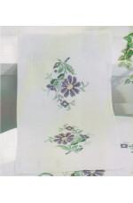 Ritad korsstygnslöpare Lila blomma     40x80 cm