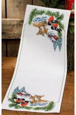 Räknad jullöpare  Skogens djur   33x90cm
