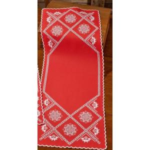 Hardanger       Vitt på rött   40x105cm