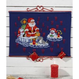 Adventskalender  Jul på isen   58x42cm