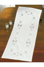 Hardangerlöpare   Vitt på vitt           39x102cm