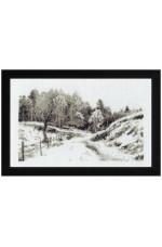 Tavla  landskap i grått   27x18cm