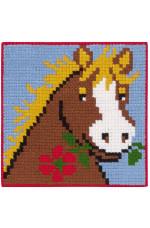 Målad stramalj Häst 25x25cm
