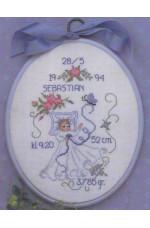 Födelsetavla     Sebastian                 20x25cm