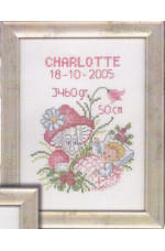 Födelsetavla     Charlotte                   14x19cm