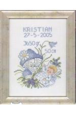 Födelsetavla     Kristian                     14x19cm