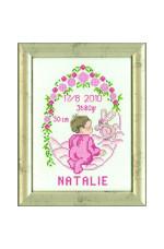 Födelsetavla     Natalie                      15x20cm