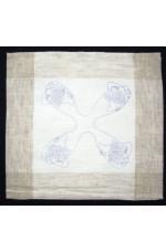 Ritad Oblekt / vitt fållad linne / pollyester duk Jul 40x40 cm