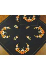 Ritad duk   Blomsterprakt               67x67cm