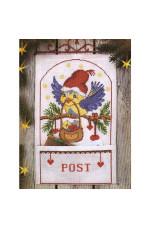 Julpost Flygpost 25x40cm