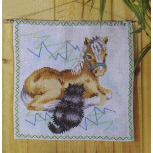 Vepa / Kudde Häst och katt 35x35 cm