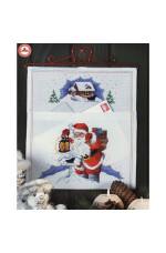 Julpost Tomte med lyckta 28x31 cm