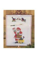 Julpost  Tomte och lyckta    28x34cm