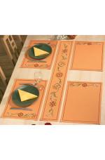 Räknad löpare Festremsa i orange  16x117cm