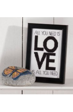 Tavla      All you need is love 14x9 cm