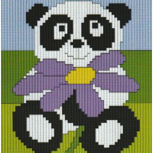 Långstygnstavla          Panda         10x10cm