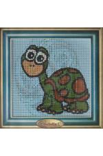 Målad stramalj      Sköldpadda     14x14cm