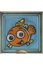 Målad stramalj     Fisk    14x14cm