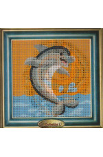 Målad stramalj         Delfin        14x14cm